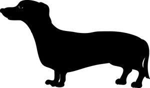 Dachshund clipart image dachshund dog silhouette cute weiner dog