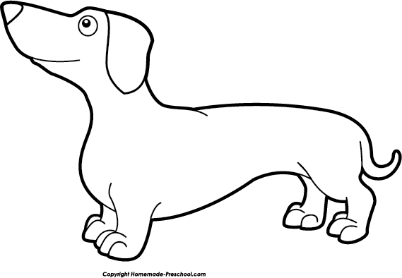 Dachshund free dog clipart