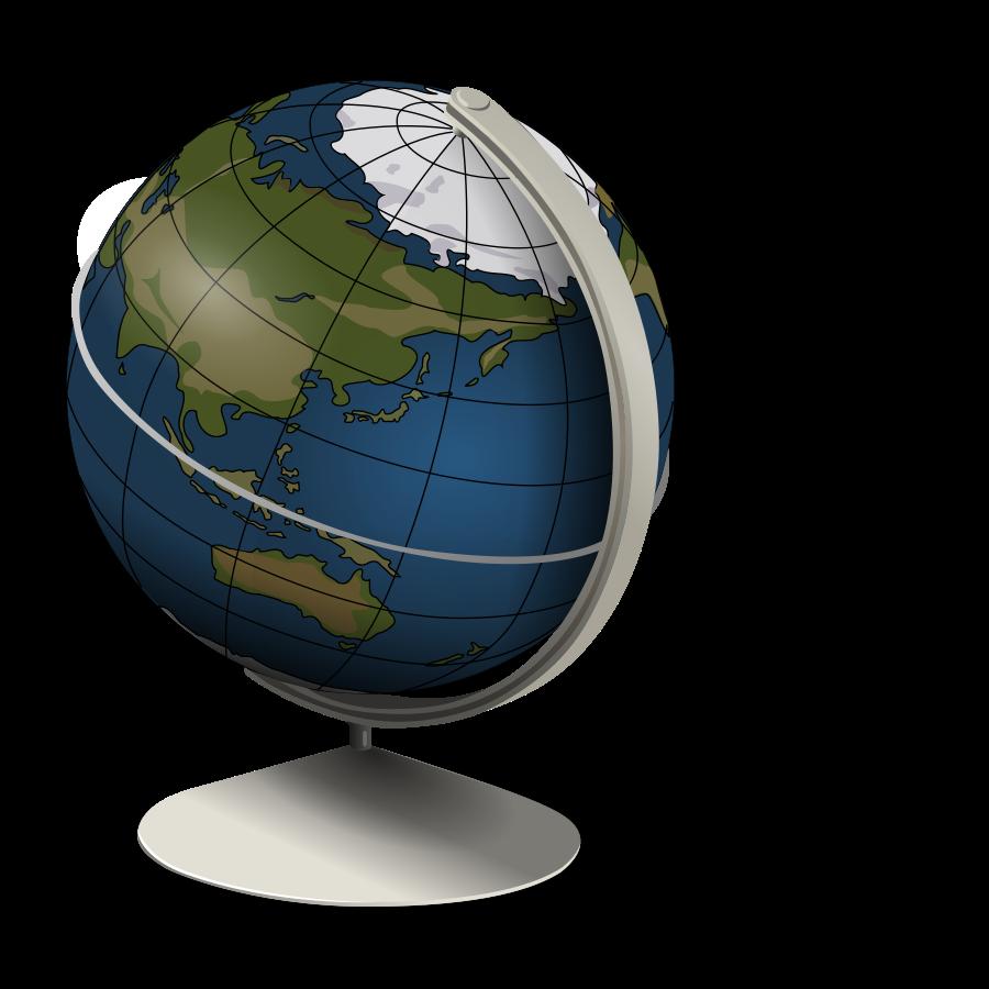 Globe 3d clipart vector clip art free design
