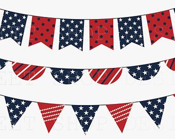 Patriotic bunting clipart clipart kid