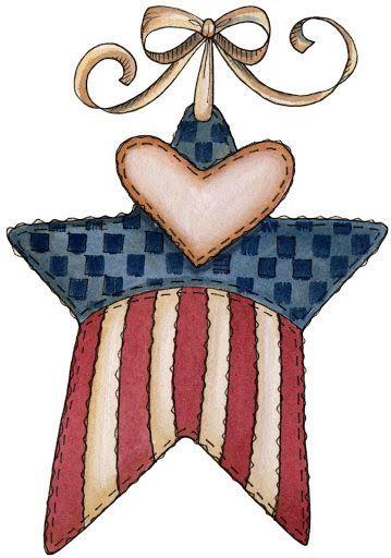 Patriotic star clip art patriotic clipart clipartix