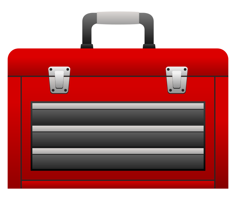 Toolbox free to use  clipart 2