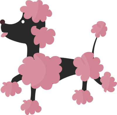 Black paris poodle clipart clipart kid
