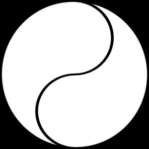 Blank yin yang clip art at clker vector clip art