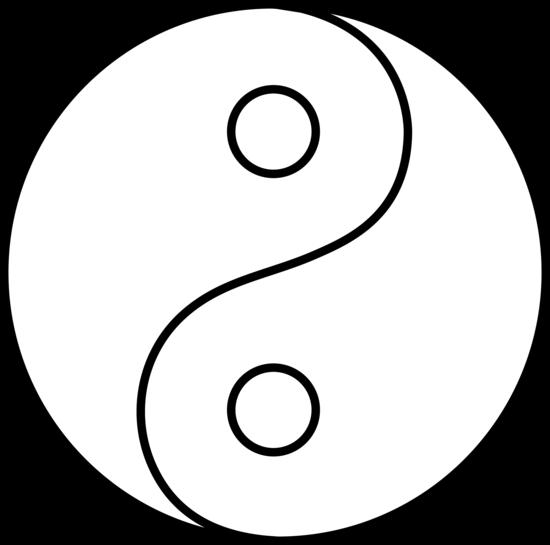 Blank yin yang line art free clip art