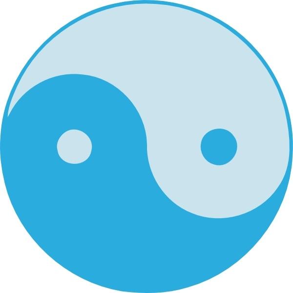 Blue yin yang clip art free vector in open office drawing svg