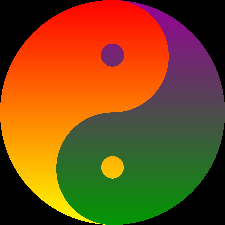 Clipart rainbow blend yin yang