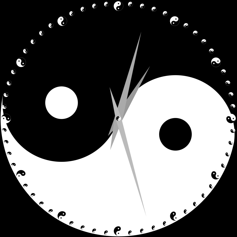 Clipart yin yang clock