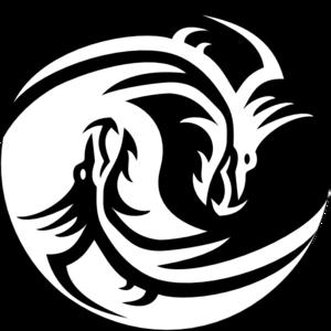 Dragon yin yang large clip art at clker vector clip art