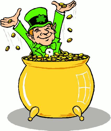 Free pot of gold clipart public domain holiday stpatrick clip 2