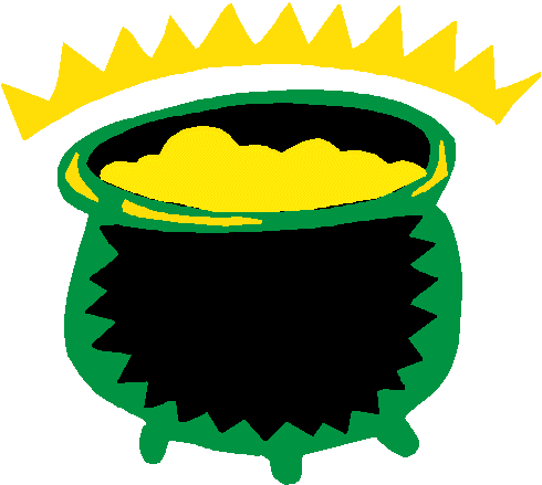 Free pot of gold clipart public domain holiday stpatrick clip 4