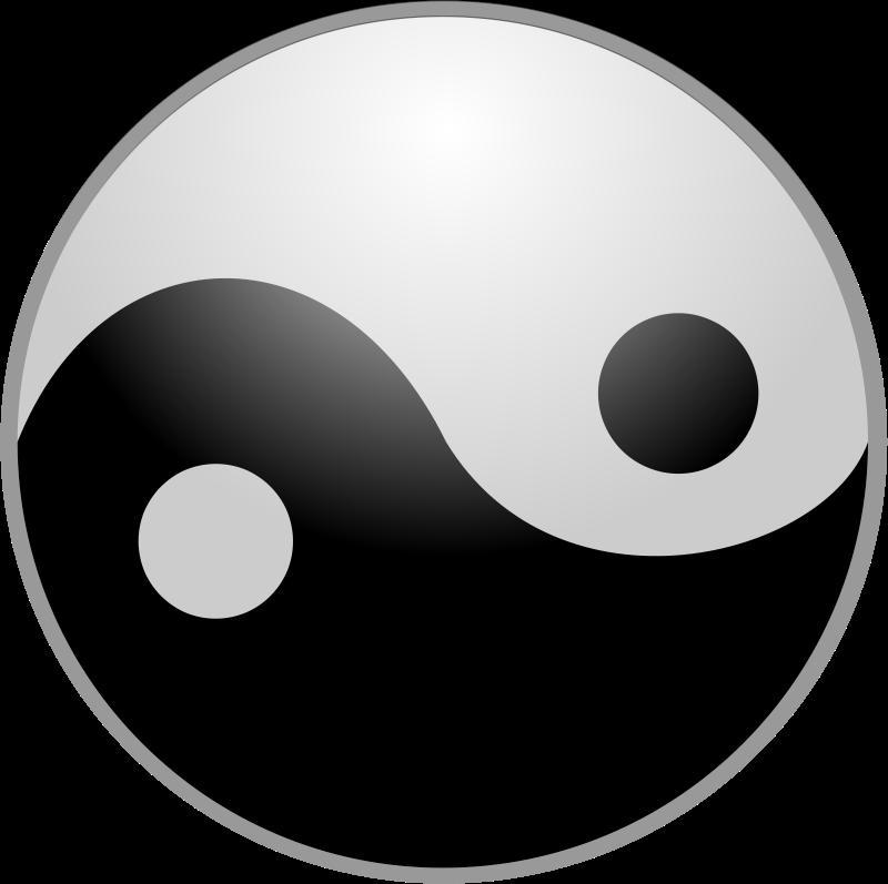 Free yin yang symbol clip art