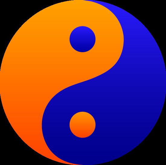 orange clipart png. orange and blue yin yang symbol free clip art clipart png