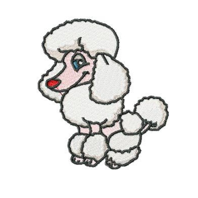 Poodle clip art hostted