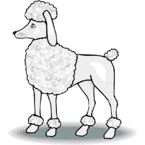 Poodle clipart of poodle free download wmf emf