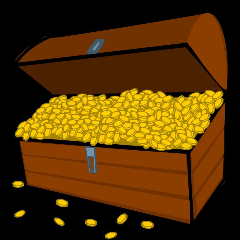 Treasure chest gold clip art download