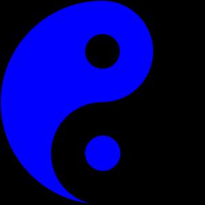 Yin yang blue ying yang clip art high quality clip art