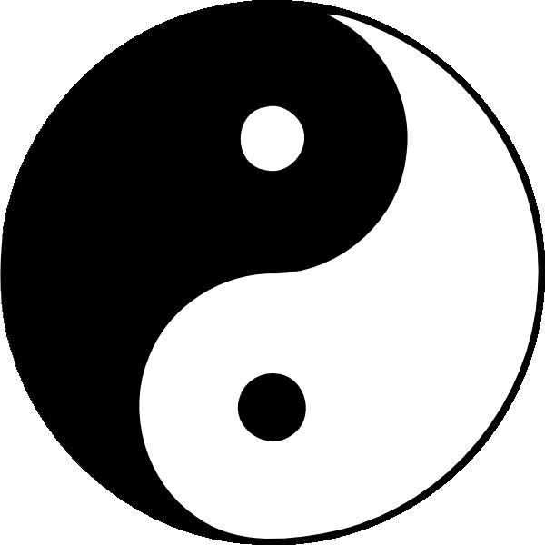 Yin yang clip art at clker vector clip art