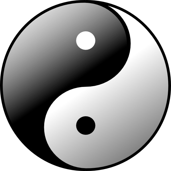 Yin yang clip art free vector in open office drawing svg svg 2