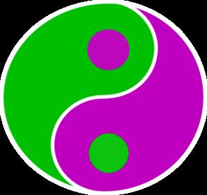 Yin yang green purple clip art high quality clip art