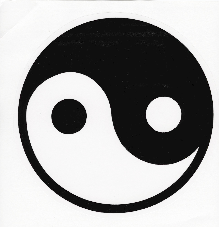 Yin yang logo clipart