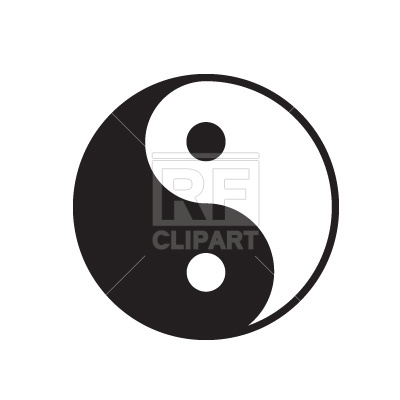 Yin yang symbol signs symbols maps download free vector clip art