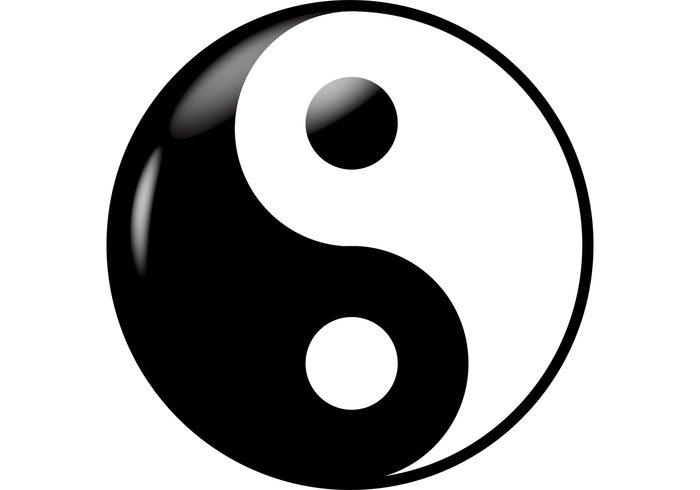 Yin yang vector clipart
