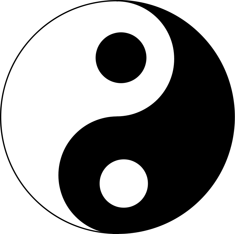 Yin yang ying yang clip art clipart 2
